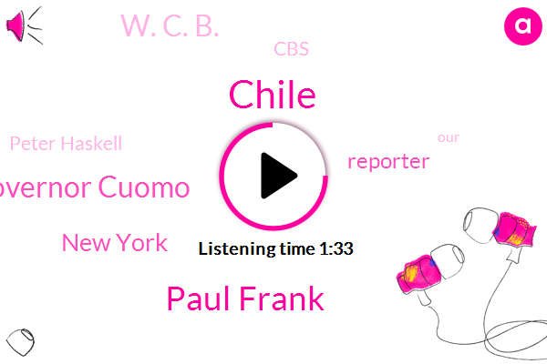 Chile,Paul Frank,Governor Cuomo,New York,Reporter,W. C. B.,CBS,Peter Haskell