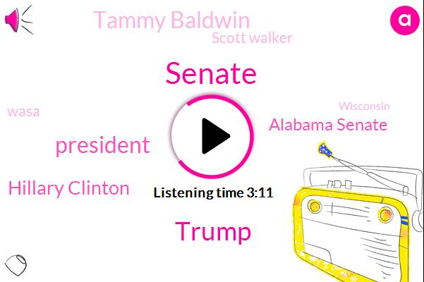 Senate,Donald Trump,Hillary Clinton,President Trump,Alabama Senate,Tammy Baldwin,Scott Walker,Wasa,Wisconsin,Joe Donnelly,Claire Mccaskill,Dave Wasserman,Missouri,Indiana,Georgia