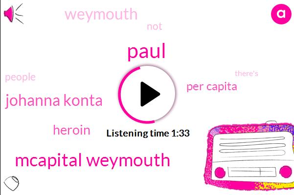 Paul,Mcapital Weymouth,Johanna Konta,Heroin,Per Capita,Weymouth