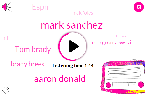 Mark Sanchez,Aaron Donald,Tom Brady,Brady Brees,Rob Gronkowski,Espn,Nick Foles,ABC,NFL,Henry