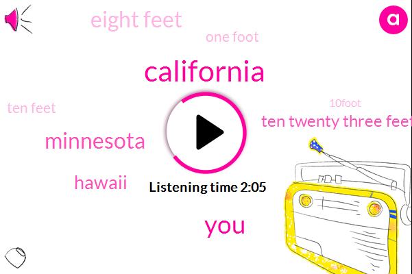 California,Minnesota,Hawaii,Ten Twenty Three Feet,Eight Feet,One Foot,Ten Feet,10Foot