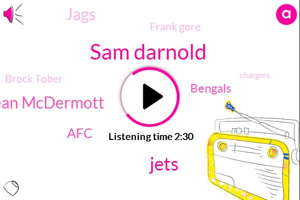 Sam Darnold,Jets,Sean Mcdermott,AFC,Bengals,Jags,Frank Gore,Brock Tober,Chargers,NFL,Miami,Jerome Baker,Titans,Ravens