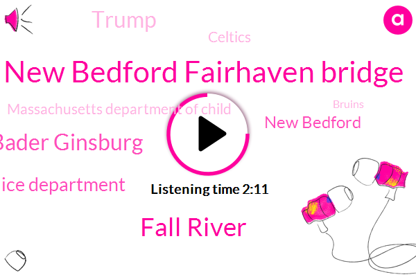 New Bedford Fairhaven Bridge,Fall River,Justice Ruth Bader Ginsburg,Fall River Police Department,New Bedford,Donald Trump,Celtics,Massachusetts Department Of Child,Bruins,United States,WBZ,Mary L Fonseca Elementary School,Fairhaven,Jake Patterson,Herald News,Wisconsin,Patriots,Orlando,Jamie,Washington