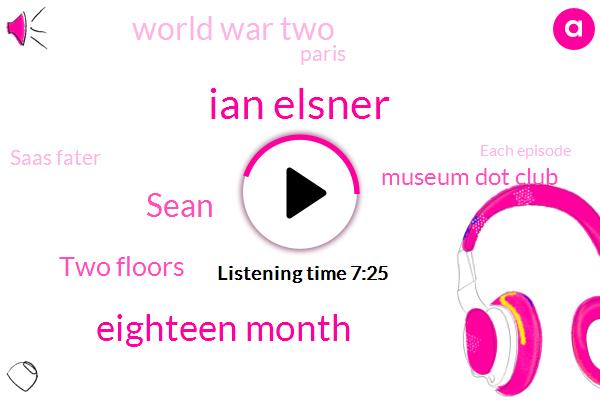 Ian Elsner,Eighteen Month,Sean,Two Floors,Museum Dot Club,World War Two,Paris,Saas Fater,Each Episode,Fifteen Minutes,Today,Jalen,Nazi Germany,November,First,Nazis,Early Nineteen Forties,A Gallon,Hebrew
