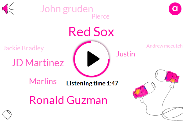 Red Sox,Ronald Guzman,Jd Martinez,Marlins,Justin,John Gruden,Pierce,Jackie Bradley,Andrew Mccutchen,Yankees,Redskins,Padres,Texas,Darius,Giants,San Diego,CBS,Dodgers,Boston,Blue Jays