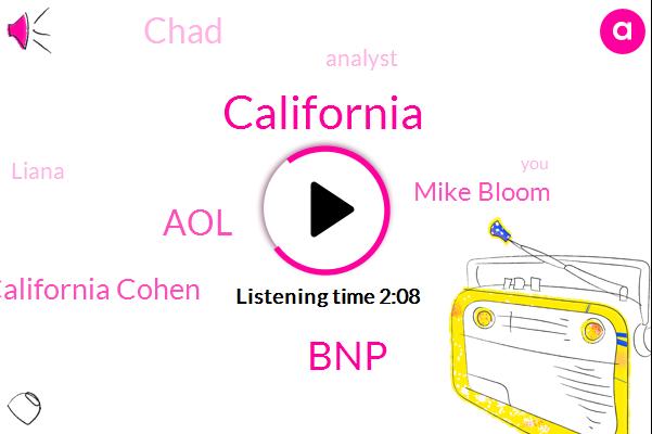 California,BNP,AOL,California Cohen,Mike Bloom,Chad,Analyst,Liana