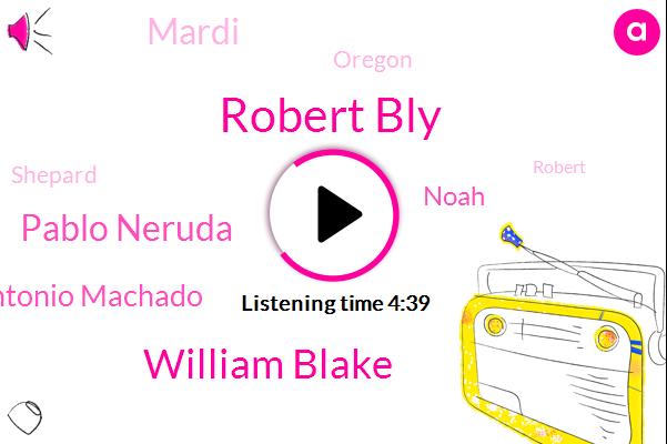 Robert Bly,William Blake,Pablo Neruda,Antonio Machado,Noah,Mardi,Oregon,Shepard