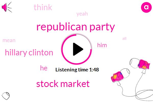 Republican Party,Stock Market,Hillary Clinton