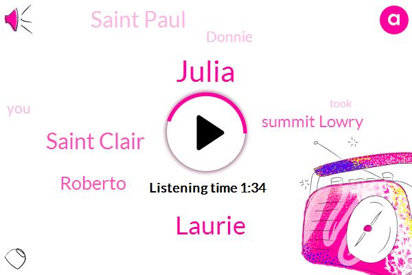 Julia,Laurie,Saint Clair,Roberto,Summit Lowry,Saint Paul,Donnie