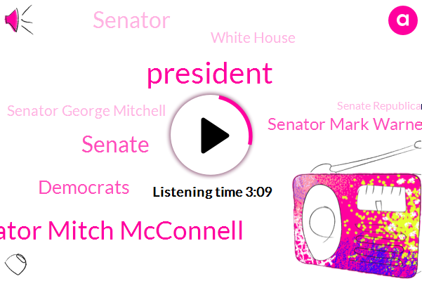 Senator Mitch Mcconnell,President Trump,Senate,Democrats,Senator Mark Warner,Senator,White House,Senator George Mitchell,Senate Republican Caucus,Gabby,NBC,Virginia,Maine,Washington,New York