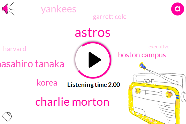 Astros,Charlie Morton,Masahiro Tanaka,Korea,Boston Campus,Yankees,Garrett Cole,Harvard,Executive,HP,One Hundred Dollars