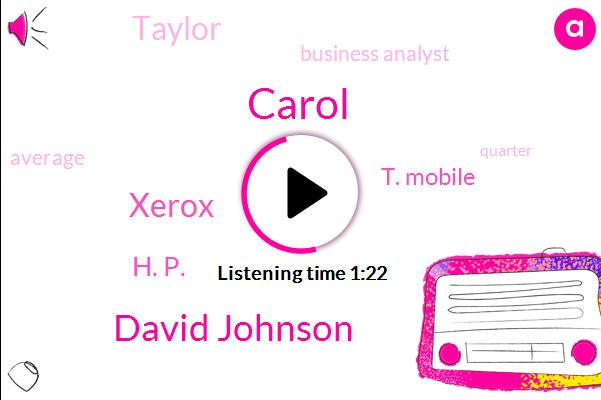 Carol,David Johnson,Xerox,H. P.,T. Mobile,Taylor,Business Analyst