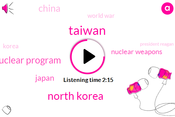 Taiwan,North Korea,Nuclear Program,Japan,Nuclear Weapons,China,World War,Korea,President Reagan