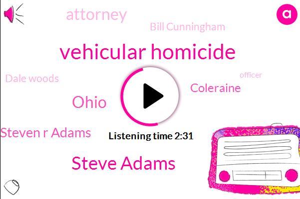 Vehicular Homicide,Steve Adams,Ohio,Steven R Adams,Coleraine,Attorney,Bill Cunningham,Dale Woods,Officer