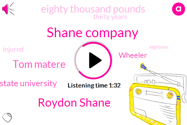 Shane Company,Roydon Shane,Tom Matere,Colorado State University,Wheeler,Eighty Thousand Pounds,Thirty Years
