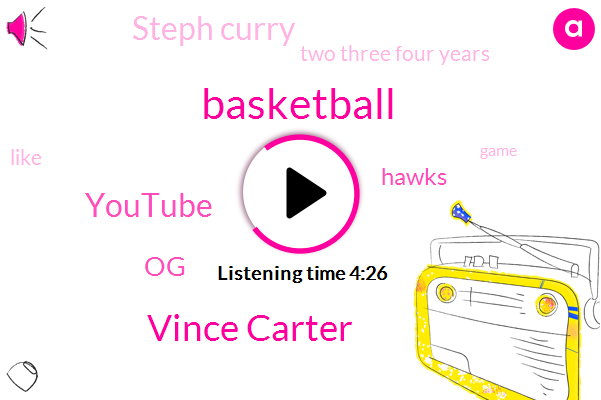 Basketball,Vince Carter,Youtube,OG,Hawks,Steph Curry,Two Three Four Years