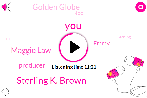 Sterling K. Brown,Maggie Law,Producer,Emmy,Golden Globe,NBC