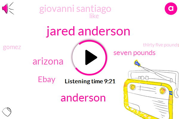 Jared Anderson,Arizona,Anderson,Ebay,Seven Pounds,Giovanni Santiago,Gomez,Thirty Five Pounds,Sunny Konso,Adrian Bronner,Bethany,Today,December,Sunny,Twice,SIX,Twenty Five Years Old,Dante Stone,June Of Last Year