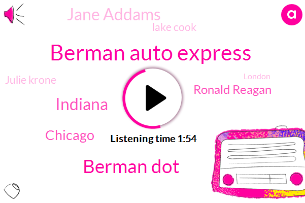 Berman Auto Express,Berman Dot,Indiana,Chicago,Ronald Reagan,Jane Addams,Lake Cook,Julie Krone,London,Deerfield,Bishop Ford,Dan Ryan,Stevenson,Eisenhower,Kennedy,Eaton Cbre,Rick Greg,One Hundred Percent,Sixty Four Degrees