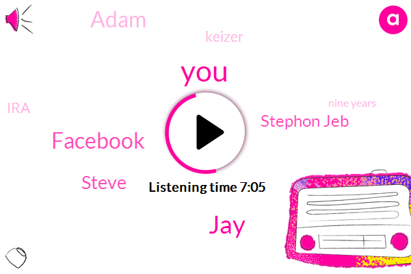 JAY,Facebook,Steve,Stephon Jeb,Adam,Keizer,IRA,Nine Years,Four One K,Twenty Five Hundred Dollar,Five Hundred Nine Years,Five Hundred Dollar,Hundred Percent,Ten Hours