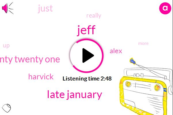 Jeff,Late January,Twenty Twenty One,Harvick,Alex