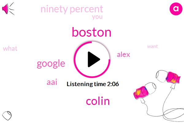 Boston,Colin,Google,AAI,Alex,Ninety Percent