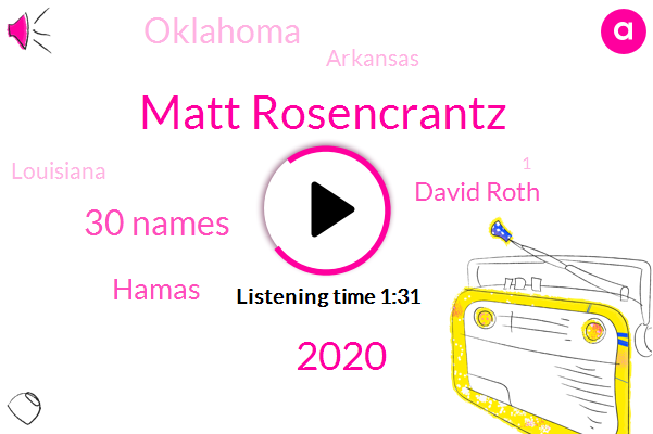 Matt Rosencrantz,2020,30 Names,Hamas,David Roth,Oklahoma,Arkansas,Louisiana,1,188 Points,Biden,2,Texas,Africa,3,2021,National Weather Service,13,4 Inches,236