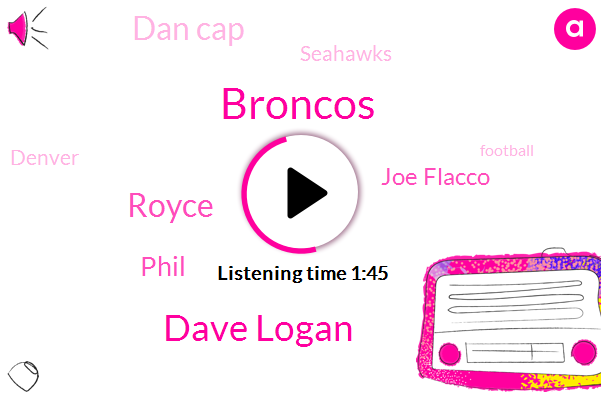Broncos,Dave Logan,Royce,Phil,Joe Flacco,Dan Cap,Seahawks,Denver,Football,Seventy Eight Yards,Fifty Yard
