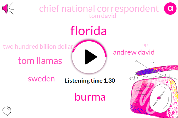 David,Florida,Burma,Tom Llamas,Sweden,Andrew David,ABC,Chief National Correspondent,Tom David,Two Hundred Billion Dollars