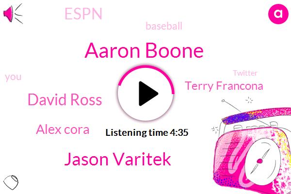 Aaron Boone,Jason Varitek,David Ross,Alex Cora,Terry Francona,Espn,Baseball,Twitter,Yankees,Cubs,Rossi,Two Days