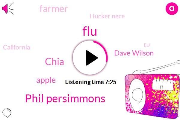 FLU,Phil Persimmons,Chia,Apple,Dave Wilson,Farmer,Hucker Nece,California,EU,Holland,Stacey,Kate,Seven Seventy Five Percent