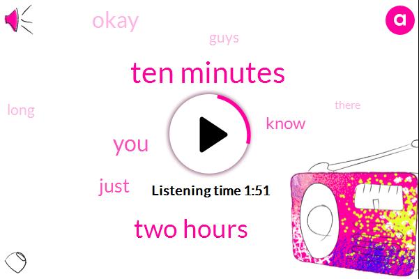 JOE,Ten Minutes,Two Hours
