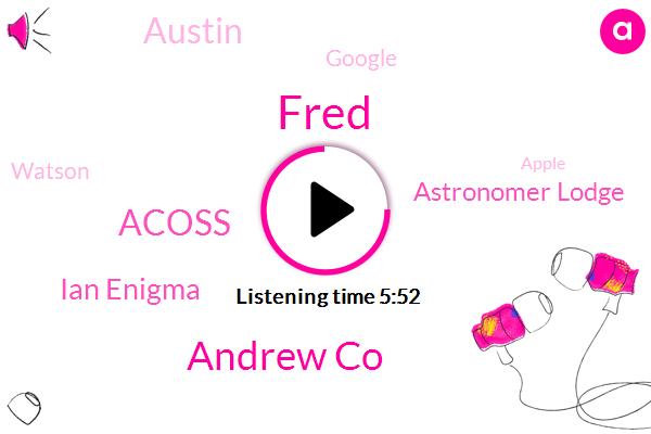 Fred,Andrew Co,Acoss,Ian Enigma,Astronomer Lodge,Austin,Google,Watson,Apple,Ducks,Professor,Tamaz