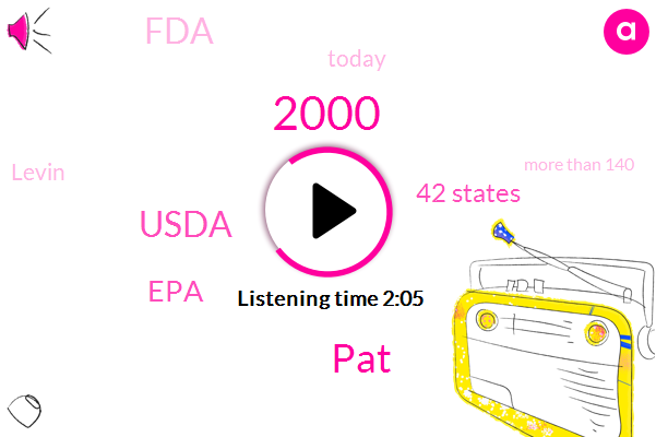 2000,PAT,Usda,EPA,SIX,42 States,FDA,Today,Levin,More Than 140,Over 30,Taxify,O. J. C,100%,Dozens Of Chemicals,79 Serving,33,000 U. S,DR.,Single Day