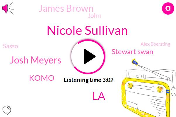 Nicole Sullivan,LA,Josh Meyers,Komo,Stewart Swan,James Brown,John,Sasso,Alex Boersting,Twenty Months,Five Years