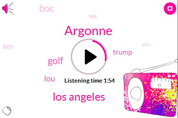 Argonne,Los Angeles,Golf,LOU,KFI,Donald Trump,BOC,WA,BEN,President Trump,Florida,Three Hours