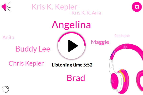 Angelina,Brad,Buddy Lee,Chris Kepler,Maggie,Kris K. Kepler,Kris K. K. Aria,Anita,Facebook,Twitter,ZOE