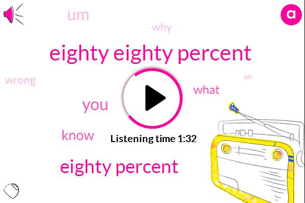 Eighty Eighty Percent,Eighty Percent