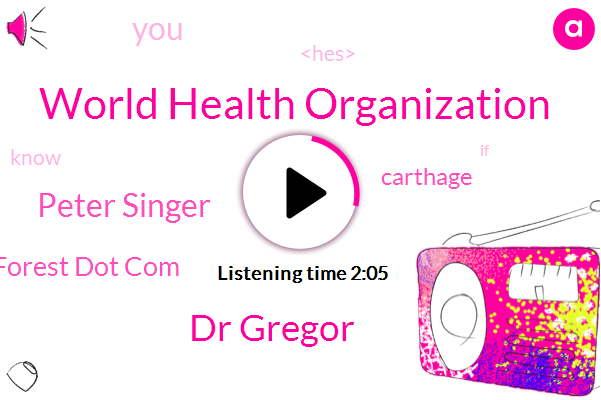 World Health Organization,Dr Gregor,Peter Singer,J Nelson Forest Dot Com,Carthage,JAY
