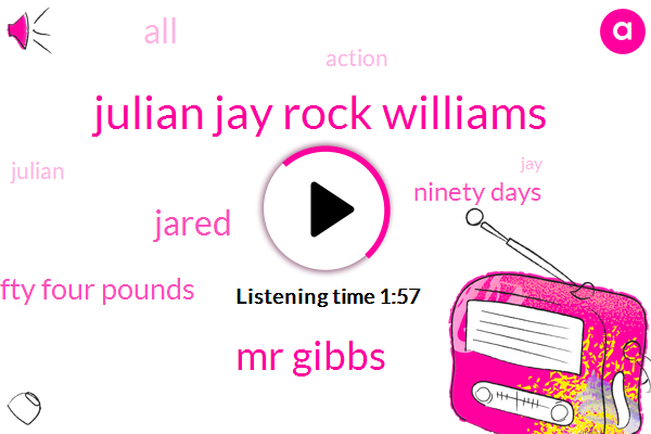 Julian Jay Rock Williams,Mr Gibbs,Boxing,Jared,One Hundred Fifty Four Pounds,Ninety Days
