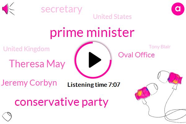 Prime Minister,Conservative Party,Theresa May,Jeremy Corbyn,Oval Office,Secretary,United States,United Kingdom,Tony Blair,Boris Johnson,Republican National Committee,DAN,Korea,MP,Brexit,BBC,Dominic Robb