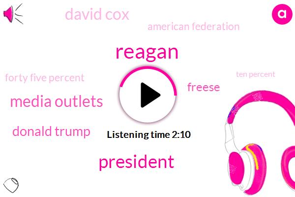 Reagan,Media Outlets,Donald Trump,Freese,President Trump,David Cox,American Federation,Forty Five Percent,Ten Percent