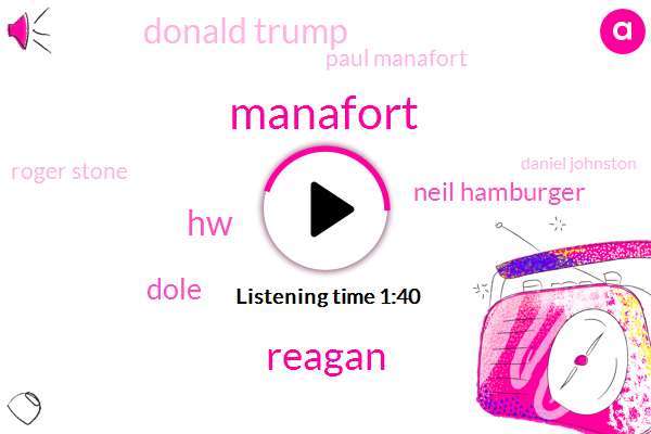 Manafort,Reagan,HW,Dole,Neil Hamburger,Donald Trump,Paul Manafort,Roger Stone,Daniel Johnston,Five Months