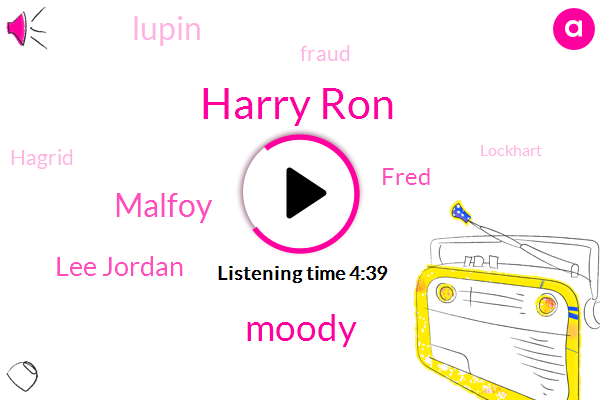 Harry Ron,Moody,Malfoy,Lee Jordan,Fred,Lupin,Fraud,Hagrid,Lockhart,George Mazing,Bangor,Kern