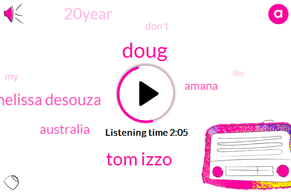 Doug,Tom Izzo,Melissa Desouza,Australia,Amana,20Year