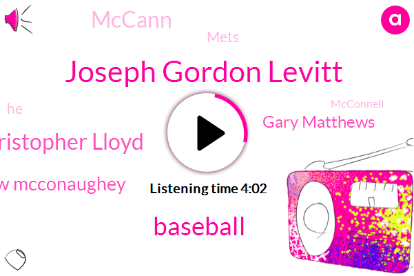 Joseph Gordon Levitt,Baseball,Christopher Lloyd,Matthew Mcconaughey,Gary Matthews,Mccann,Mets,Mcconnell,Derek Fogel,National League,Pat Mclaughlin,CY,Gary Matthews Jones,Joe George,Zolder Yester,Attorney,Anaheim,Paul,Dallas