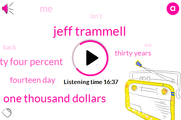 Jeff Trammell,One Thousand Dollars,Seventy Four Percent,Fourteen Day,Thirty Years
