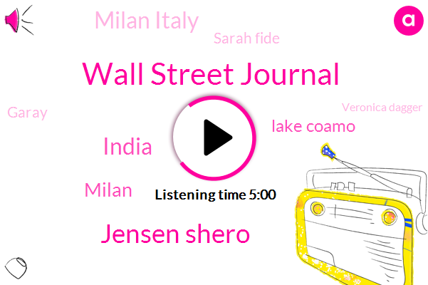 Wall Street Journal,Jensen Shero,India,Milan,Lake Coamo,Milan Italy,Sarah Fide,Garay,Veronica Dagger,Johnny,One Hundred Percent
