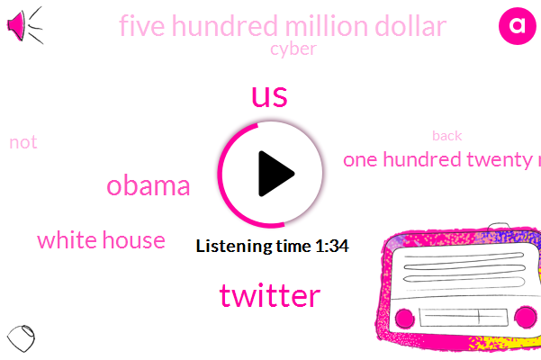 United States,Twitter,Barack Obama,White House,One Hundred Twenty Million Dollars,Five Hundred Million Dollar