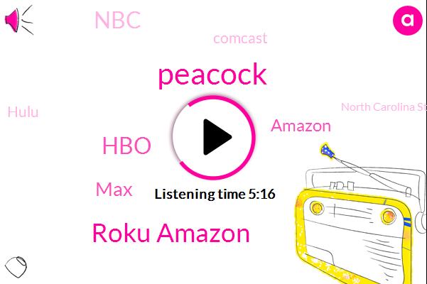Roku Amazon,Peacock,HBO,MAX,Amazon,NBC,Comcast,Hulu,North Carolina State University,Apple,Microsoft